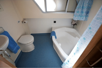 Royall Swan - toilet/shower with small bath