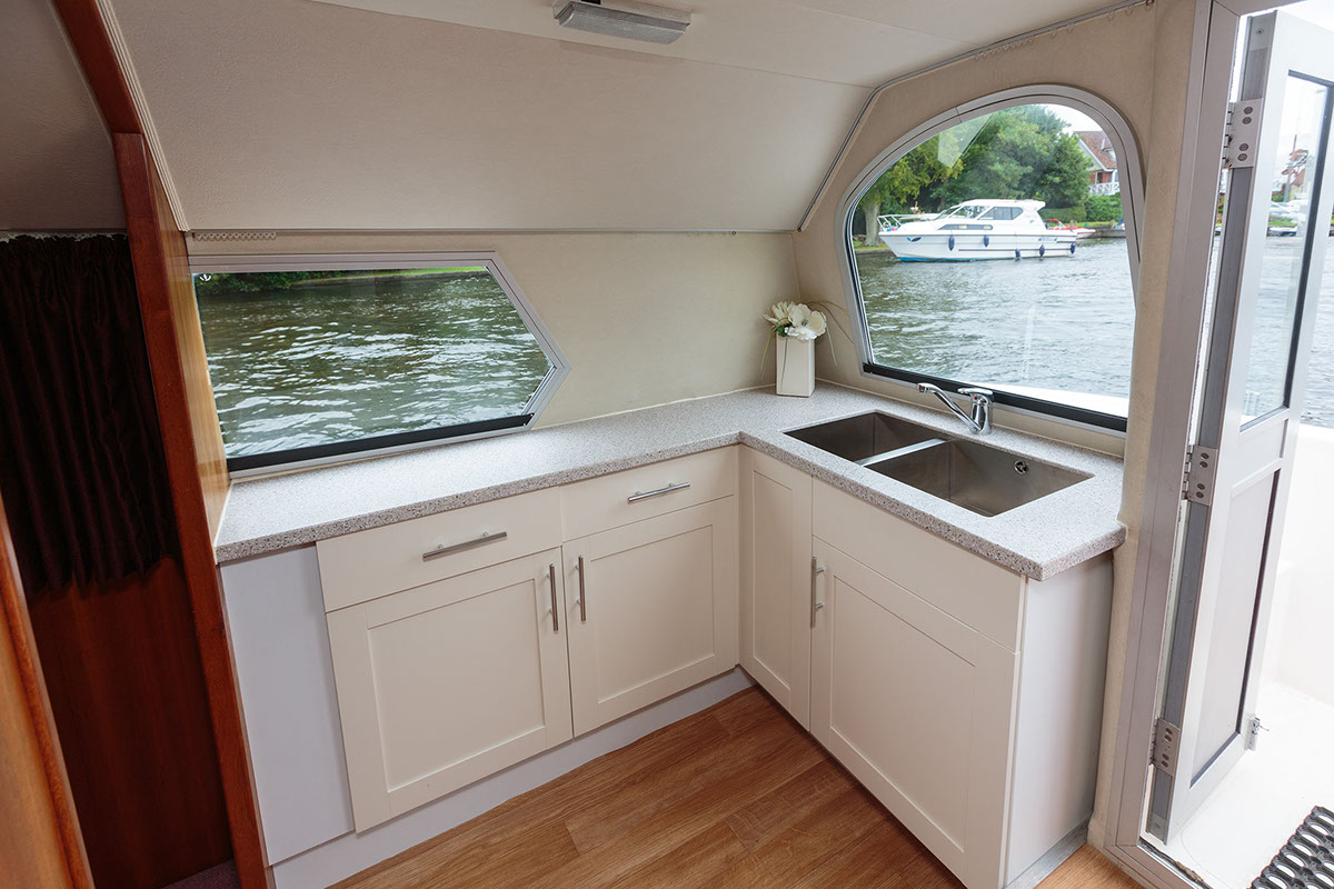 Plenty of galley space to prepare your picnic