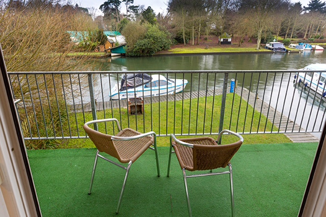 Balcony off lounge with views over the main River Bure