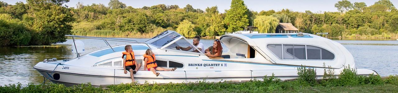 Brinks Quartet Boat - Wroxham Broad - For Hire