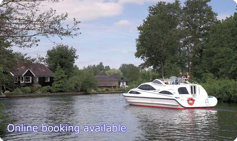 Online booking available on our Norfolk Broads boats and self catering holidays